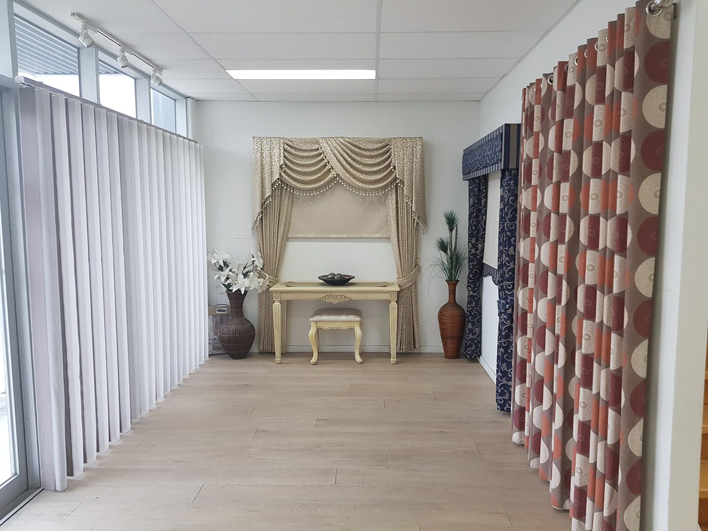 Pinch Pleat Drapes & Swags and Tails