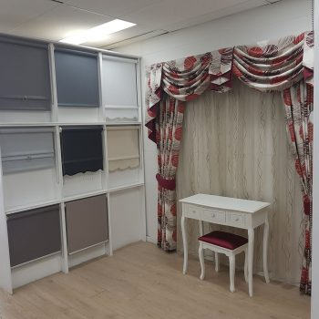 Pinch pleat drapes, swags tails and jabot